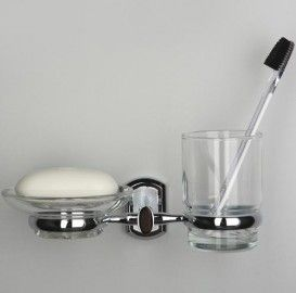 WasserKRAFT  Oder К-3026 Держатель стакана и мыльницы