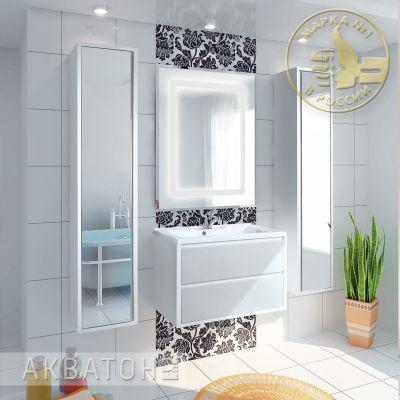 Мебель для ванной комнаты Акватон Римини 80 (тумба, раковина, зеркало)