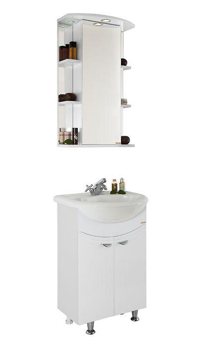 Мебель для ванной Vod-ok Эльба 60 белая