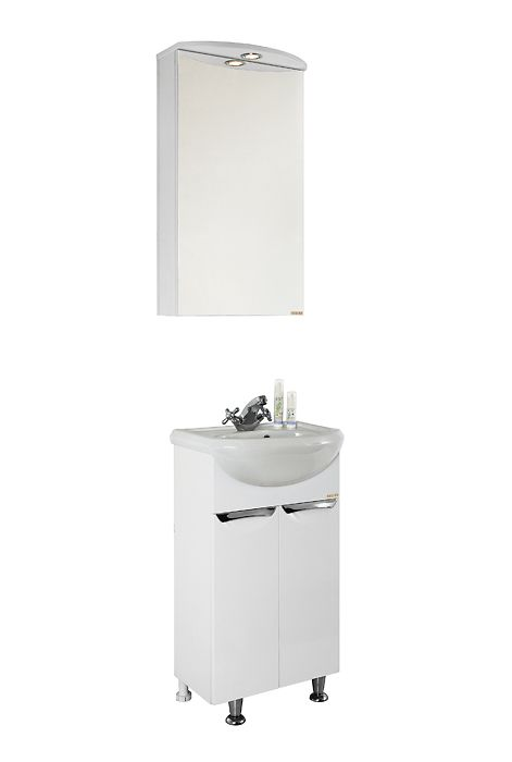 Комплект мебель для ванной Vod-ok Лира 55 (белый, венге)