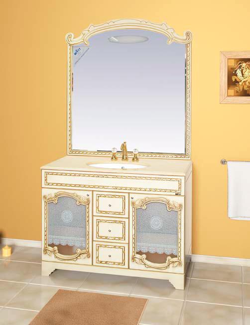 Зеркало Misty Элис 120 цвет белый, бежевый (патина)