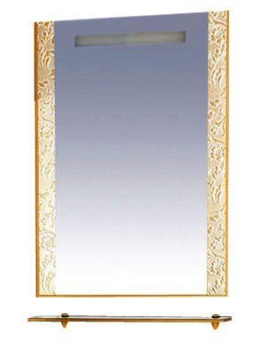 Зеркало Misty  Гранд LUX  золотая кожа флораль