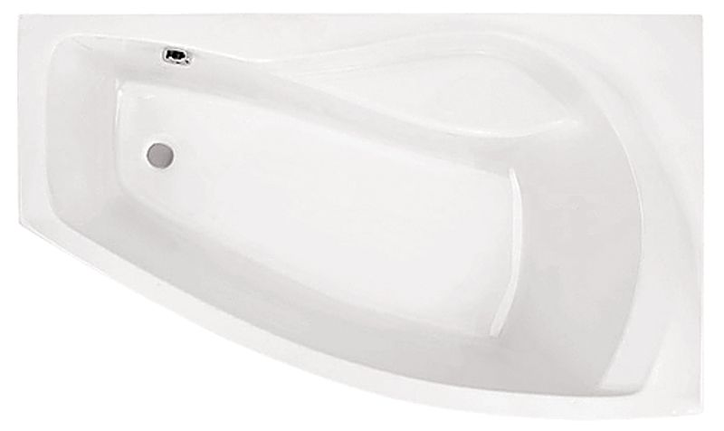 Акриловая ванна Santek Майорка 150×90 без гидромассажа Правосторонняя