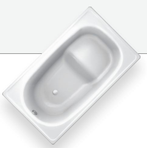 BLB Стальная ванна  Europa mini 105х70 сидячая