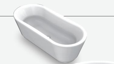 BLB Стальная ванна  Ванна Duo Comfort Oval  180х80 отдельностоящая