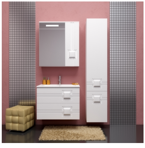 Комплект  мебели OPADIRIS КВАДРО 70 цвет белый