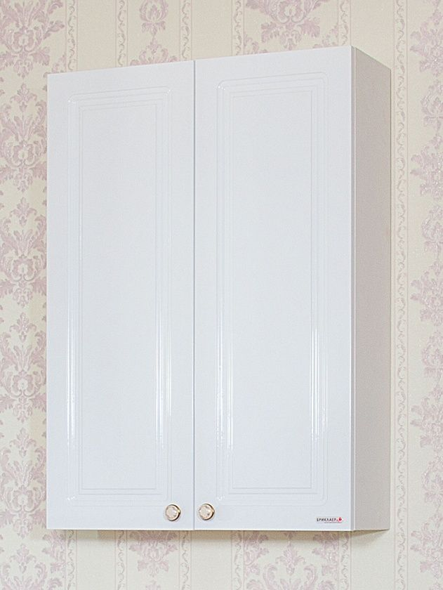 Шкаф навесной для ванной комнаты Бриклаер Анна 65, белый.