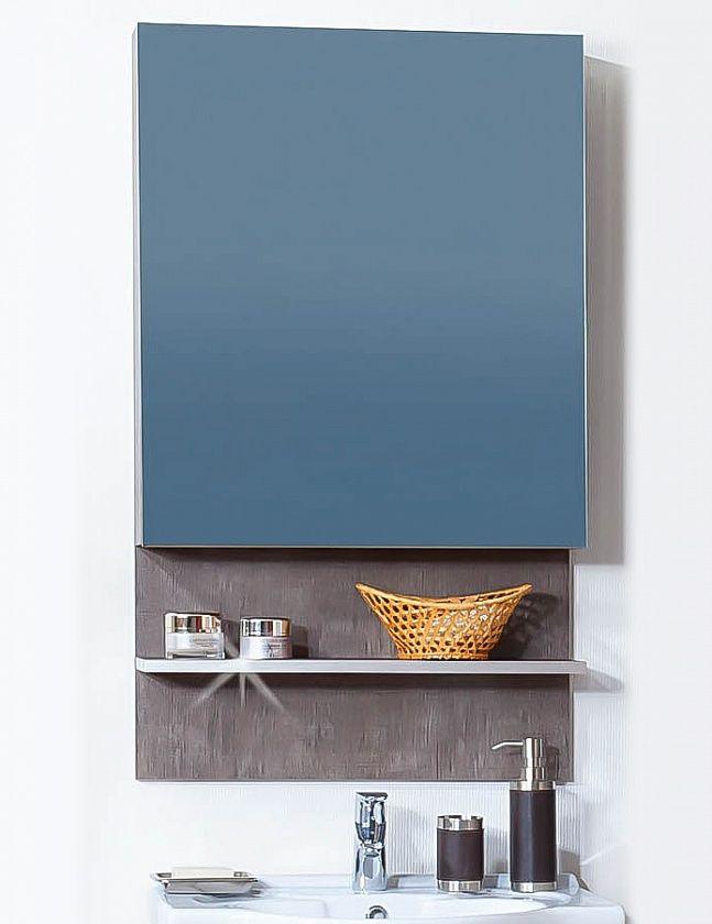 Зеркало-шкаф Бриклаер Карибы, с полочкой. Цвета дуб кантри/венге, дуб антик/сантин