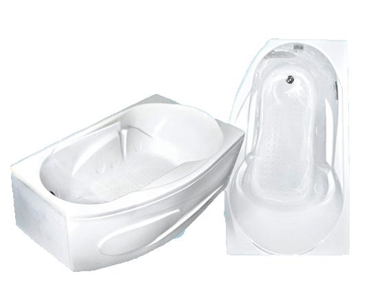 Гидромассажная акриловая ванна Bach Стар 168*100 см, G, угловая R/L