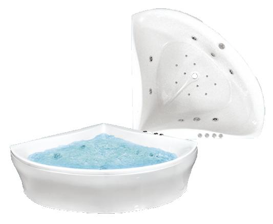 Гидромассажная акриловая ванна Bach Деметра 150*150 см, G, Престиж
