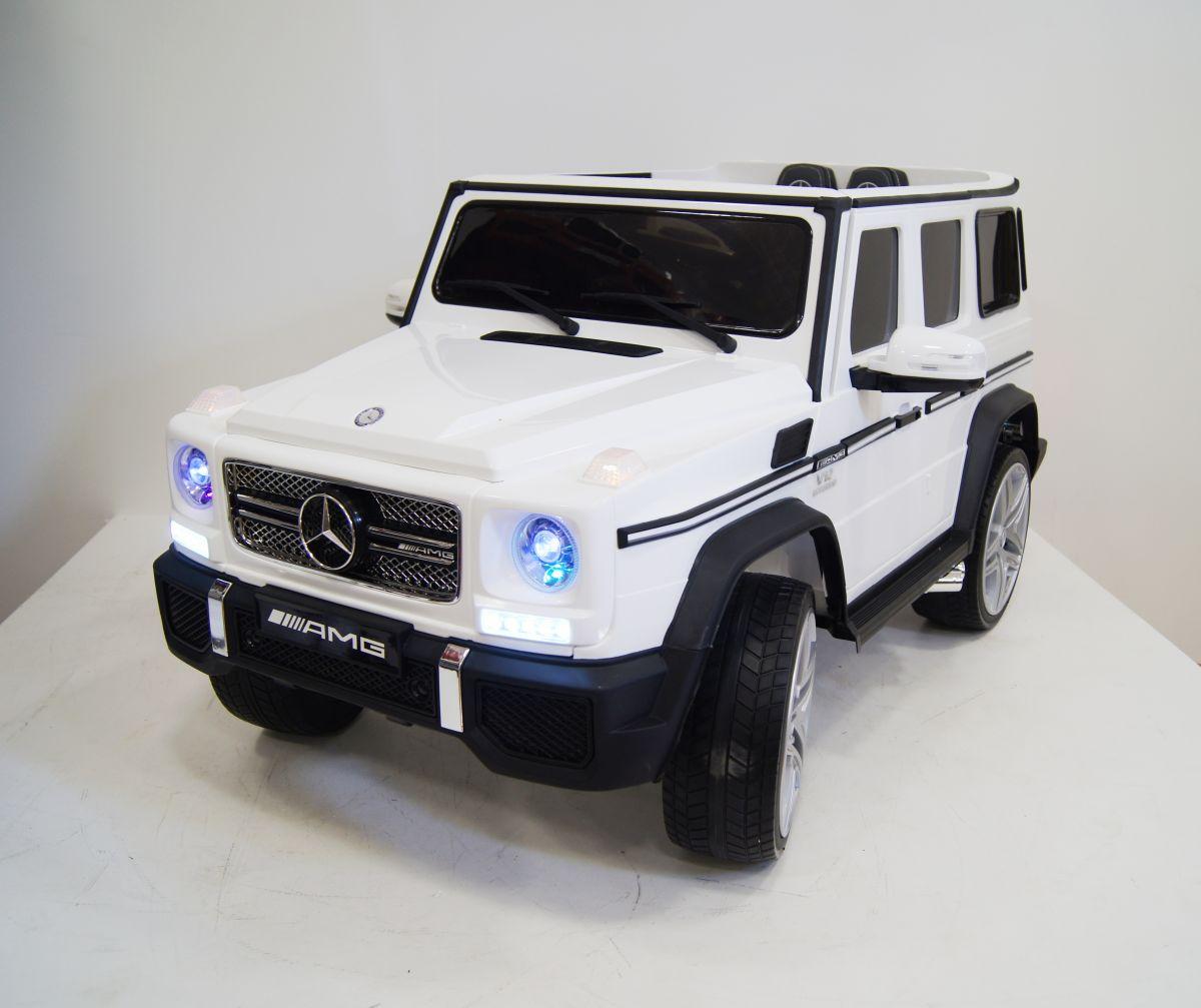 Детский электромобиль River Toys Mercedes-Benz-G-65-AMG белый