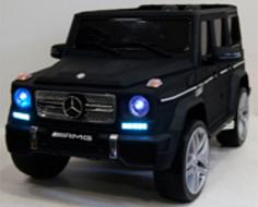 Детский электромобиль River Toys Mercedes-Benz-G-65-AMG черный