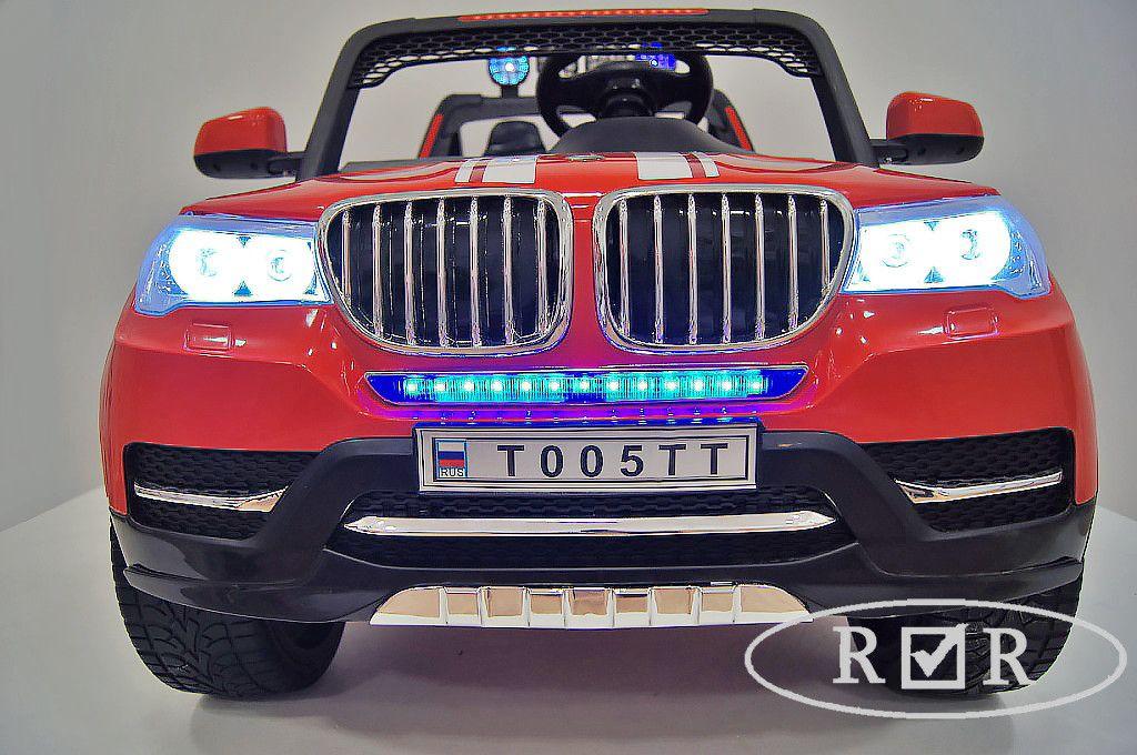 Детский электромобиль River Toys BMW T005TT 4x4 красный